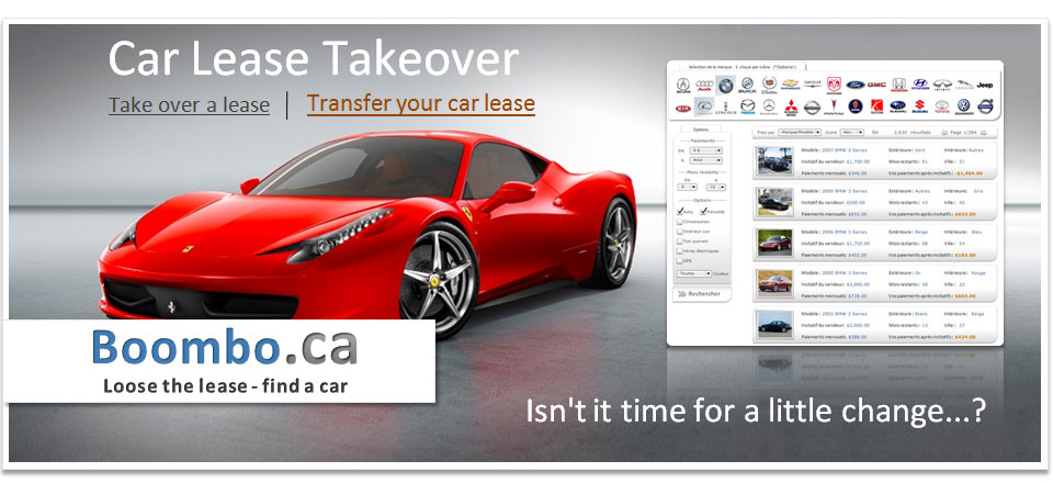 Transfer your auto lease with Boombo.ca